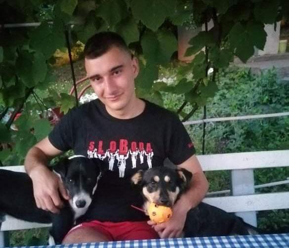 Zdravko Čajić i dva psa